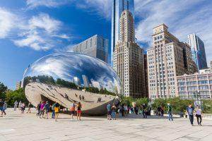 """The """"Bean"""" at Millenium Park in Chicago"""