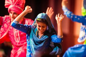 Members of the UW School of Bhangra organization perform during the Multicultural Student Orientation and Reception (MCOR)